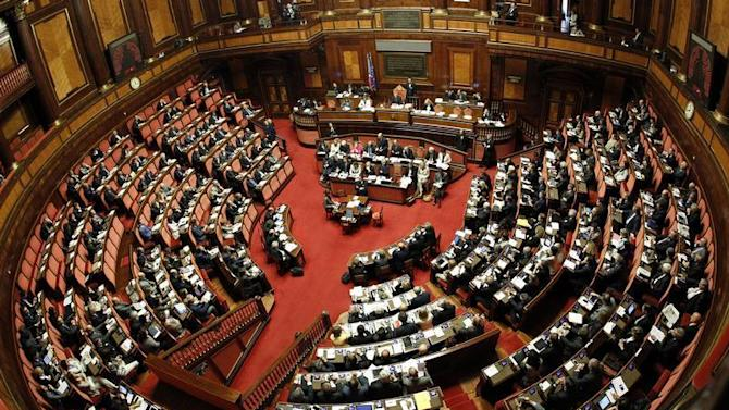 File picture shows a general view of the Upper house of the parliament in Rome