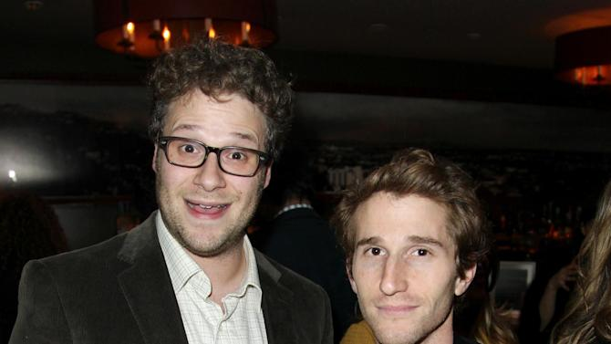 IMAGE DISTRIBUTED FOR DETAILS MAGAZINE - Seth Rogen, left, and Max Winkler attend DETAILS Hollywood Mavericks Party on Thursday, Nov. 29, 2012 in Los Angeles. (Photo by Matt Sayles/Invision for Details Magazine/AP Images)