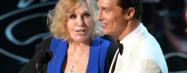 Kim Novak, left, and Matthew McConaughey at the Oscars (John Shearer/Invision/AP file)