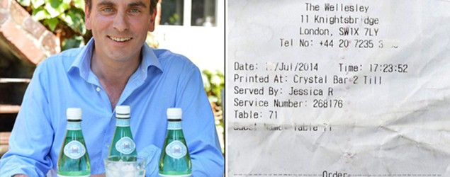 Man taken aback by bill for 3 bottles of water. (Broken News Daily on Yahoo)