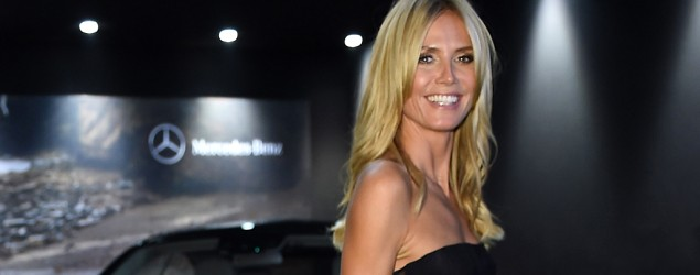 Heidi Klum dressed to kill at an amfAR Milano Fashion Week event (Tullio M. Puglia/Getty Images)