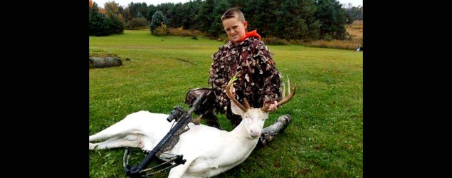 Emotions boil over after Gavin Dingman, 11, kills a rare albino deer. (Facebook)