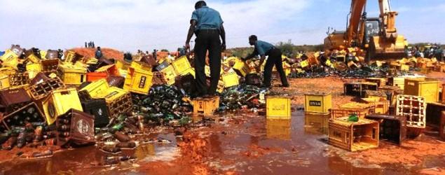 Nigerian city destroys 240K bottles of beer (AFP)