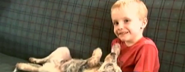 Hunter Yelton, 6, discusses the smooch that got him into trouble at school. (KRDO-Channel 13)