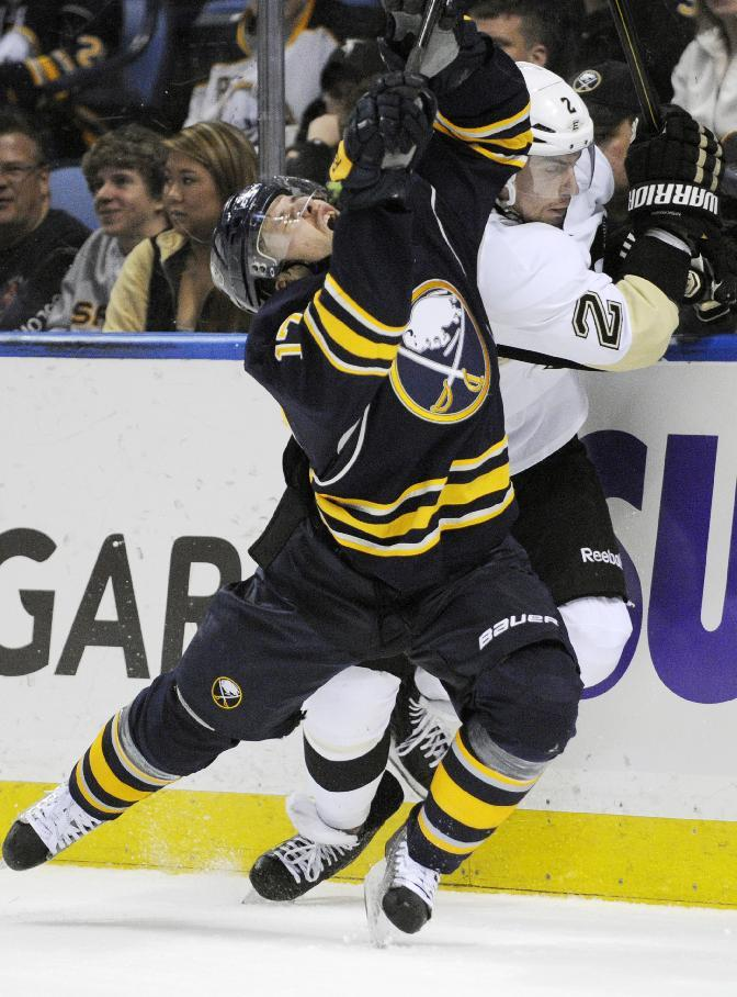 Sabres place LW Omark on waivers; Demote 2 to AHL