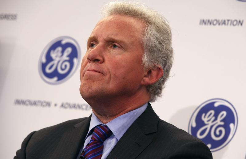 Jeff Immelt, Chairman and CEO of General Electric appears at a news conference announcing the Head Health Initiative along with the National Football League (NFL) in New York