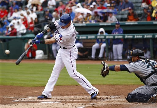 Harrison wins 17th as Rangers beat Mariners 2-1