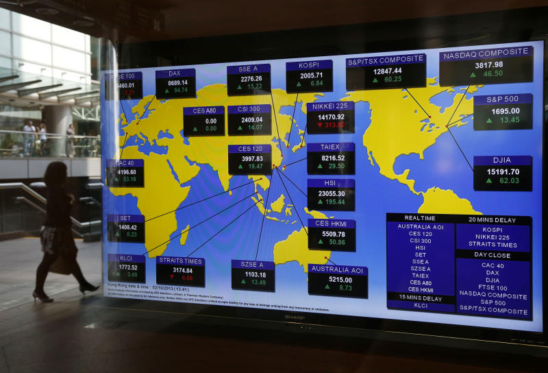 Asian markets down as US budget woes drag on