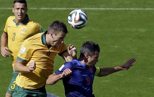 Cahill, Van Persie suspended for last group games