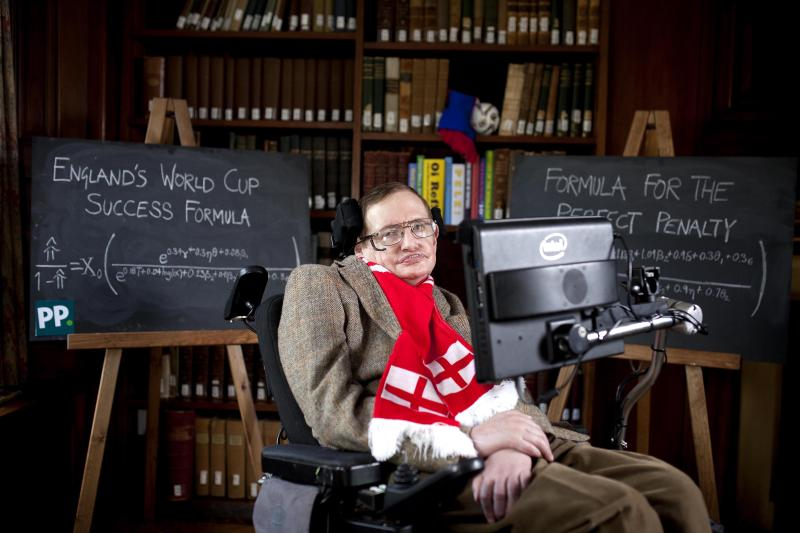 Stephen Hawking helps England with WCup chances
