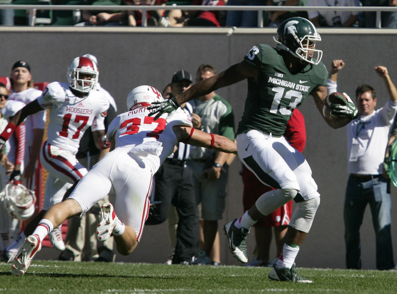 Michigan St. pulls away for 42-28 win over Indiana