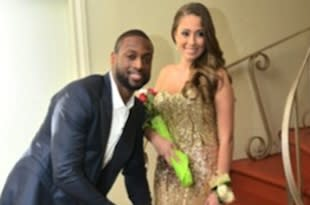 Dwyane Wade and Nicole Muxo at her prom — Instagram