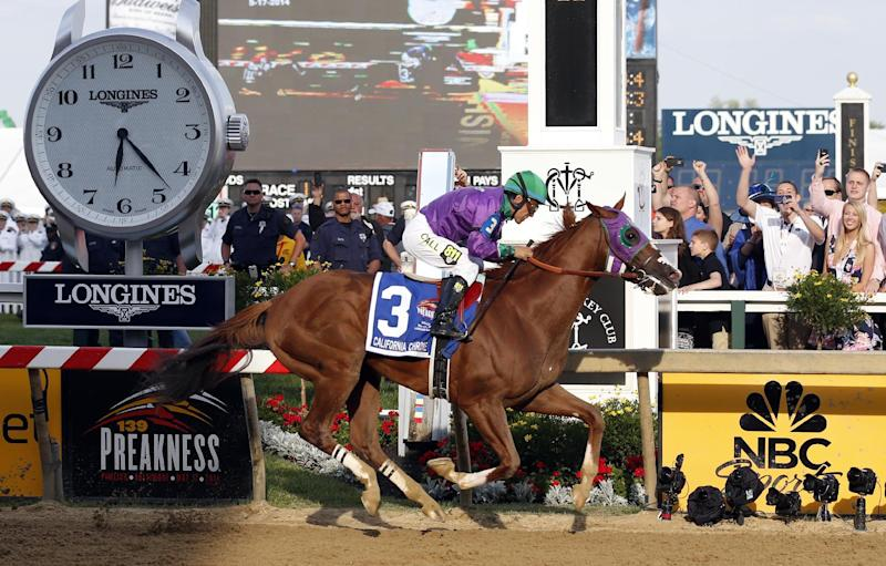 California Chrome wins Preakness; Triple try next