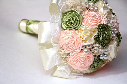 These roses ($150) are actually made using thick rolls of ribbon - perfect for a daytime wedding.