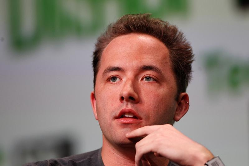 Dropbox CEO Houston speaks at TechCrunch Distrupt 2013 in San Francisco