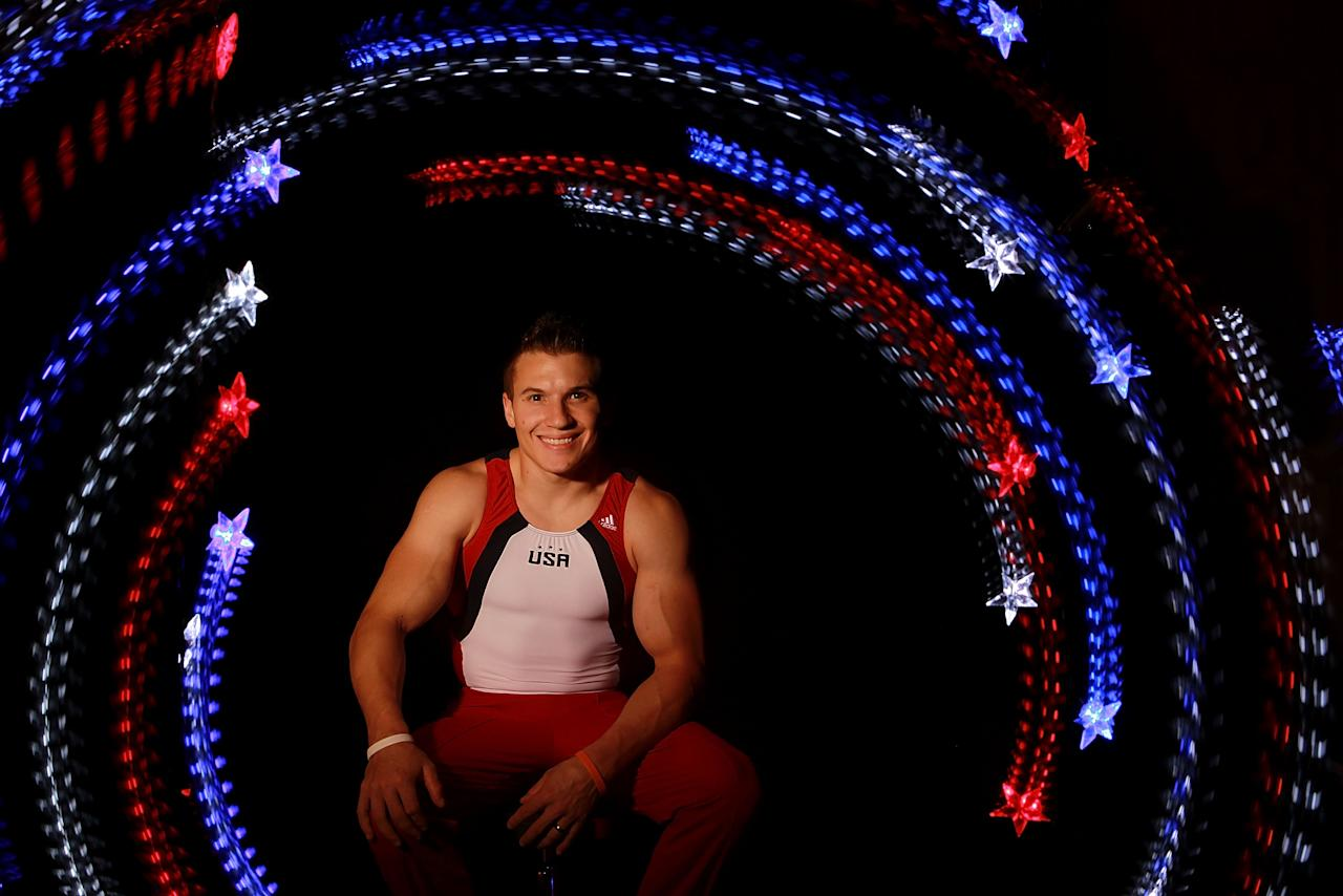 DALLAS, TX - MAY 14:  Gymnast, Jonathan Horton, poses for a portrait during the 2012 Team USA Media Summit on May 14, 2012 in Dallas, Texas.  (Photo by Ronald Martinez/Getty Images)