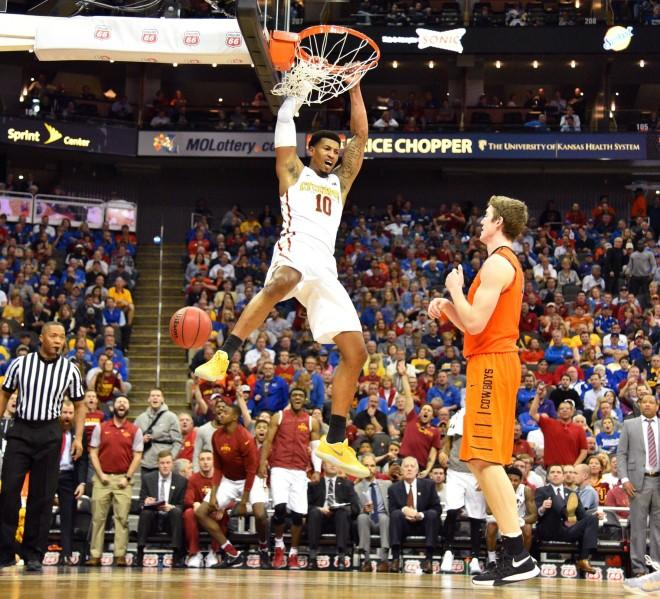Morris leads No. 23 Iowa St past Cowboys in Big 12 tourney