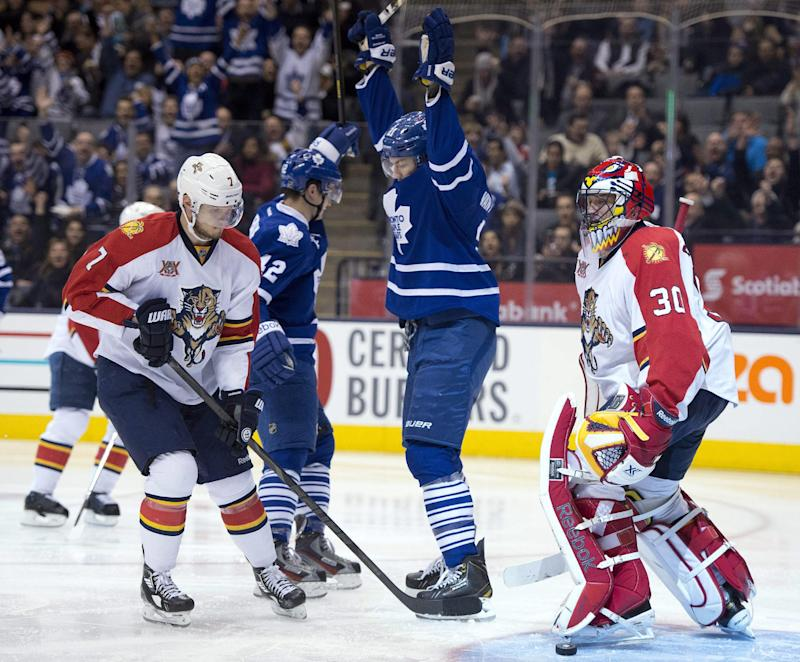 Kadri helps Maple Leafs beat Panthers 6-3