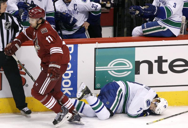 Coyotes Hanzal fined $5,000 for high-sticking