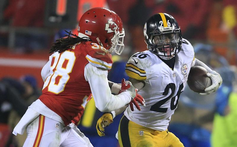 Pittsburgh Steelers running back Le'Veon Bell has run for the most yards in a player's first two postseason games. (AP)