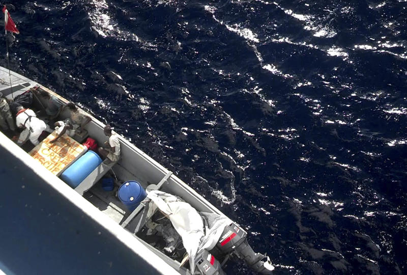 Ship rescues 5 Jamaican boaters from small boat