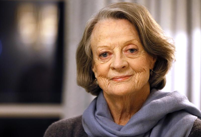 Maggie Smith plays along with Jimmy Kimmel