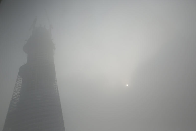 Smog at extremely hazardous levels in Shanghai
