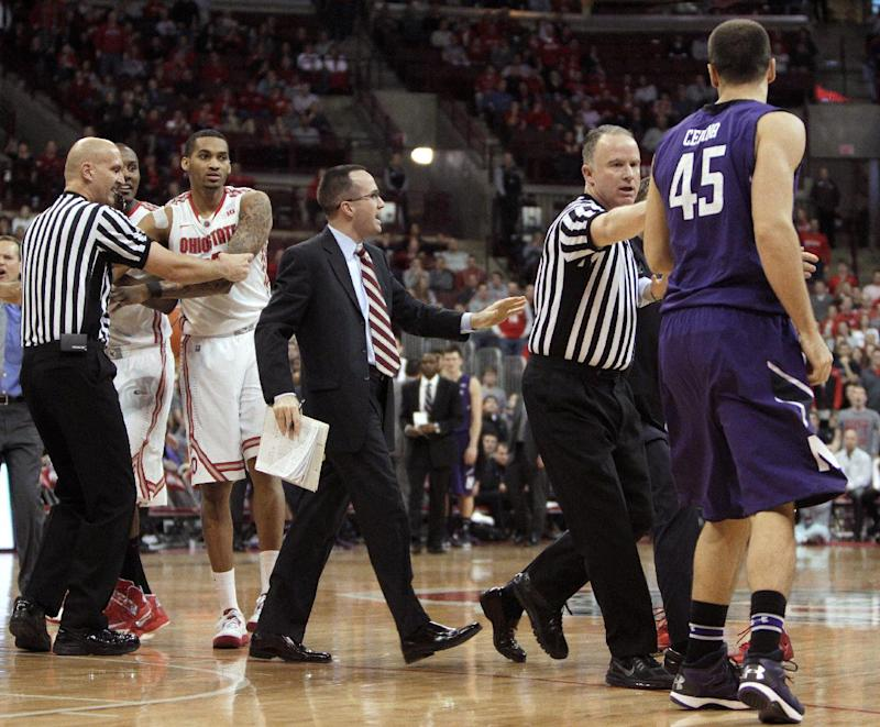 2 players ejected from No. 24 OSU vs. Northwestern