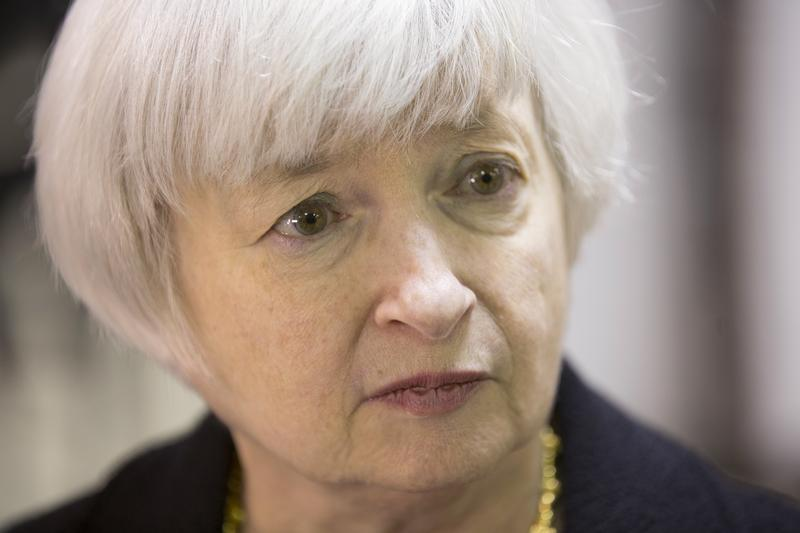US Federal Reserve Chair Yellen tours Daley College in Chicago