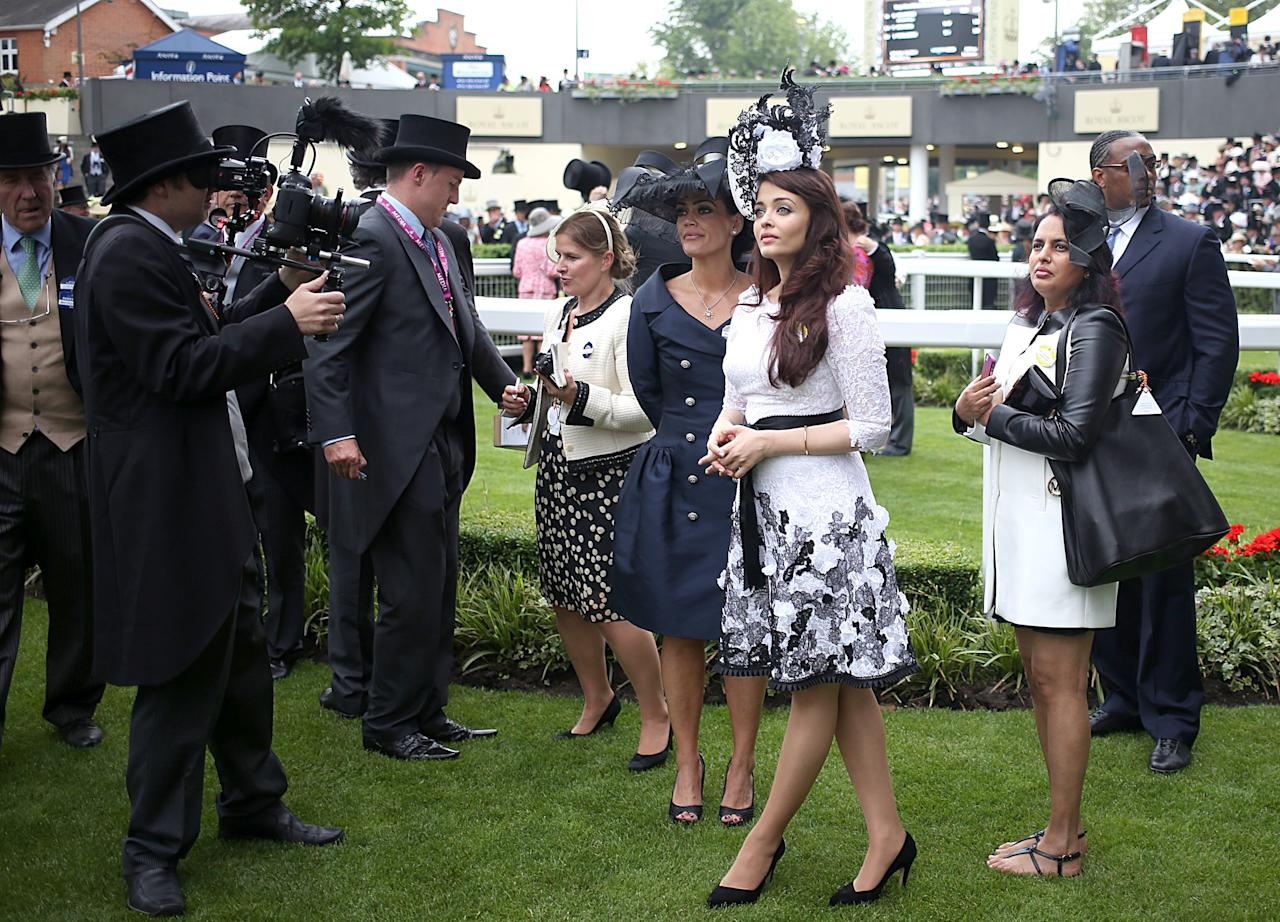 Aishwarya Rai Bachchan during day one of the Royal Ascot Meeting at Ascot Racecourse, Berkshire.
