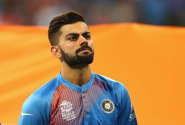 MUMBAI, INDIA - MARCH 31: Virat Kohli of India looks on during the ICC World Twenty20 India 2016 Semi Final match between West Indies and India at Wankhede Stadium on March 31, 2016 in Mumbai, India. (Photo by Ryan Pierse/Getty Images)