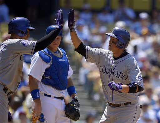 Cuddyer homers in Rockies' 3-1 win over Dodgers