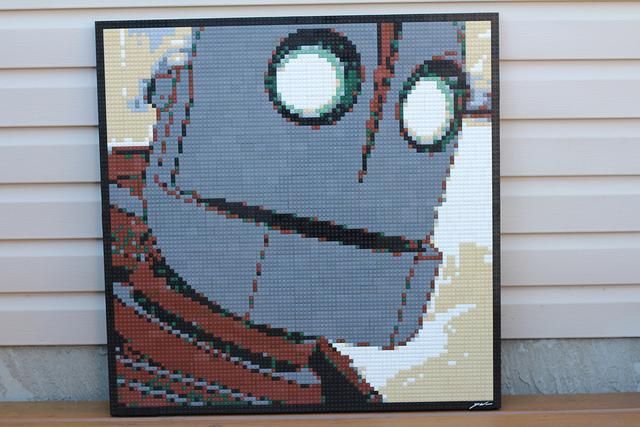 Iron Giant Lego Mosaic (2012) by Dave Ware
