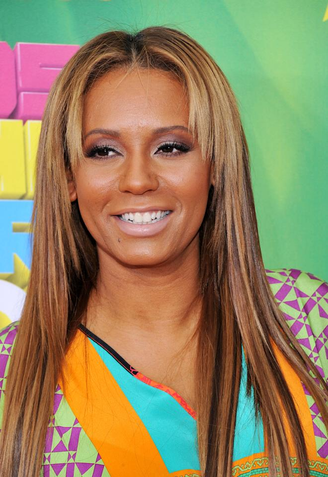 Spice Girls' Melanie Brown arrives at Nickelodeon's 24th Annual Kids' Choice Awards on Saturday, April 2, 2011, in Los Angeles.