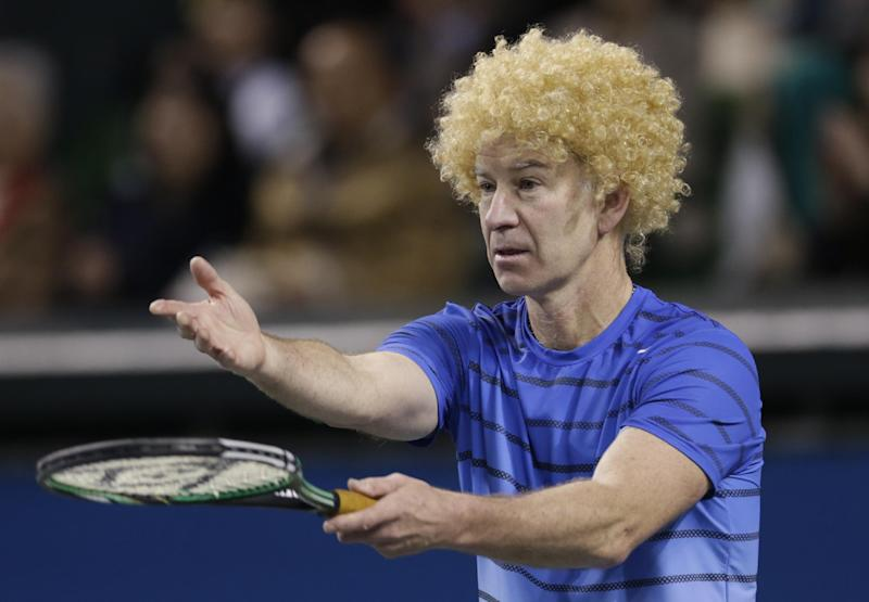 McEnroe loses to Nishikori in charity match
