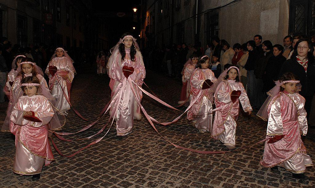 Good Friday procession through the streets of Braga, in the north of Portugal, reconstitutes the crucifixion of Jesus.
