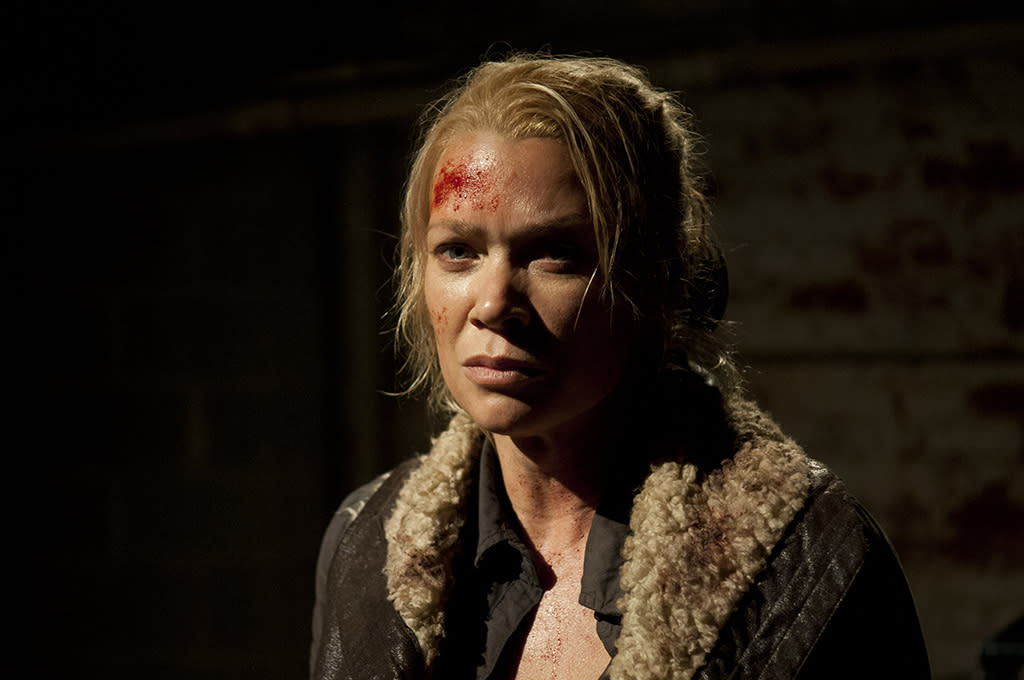 "Andrea (Laurie Holden) in ""The Walking Dead"" Season 3 Finale, ""Welcome to the Tombs."""