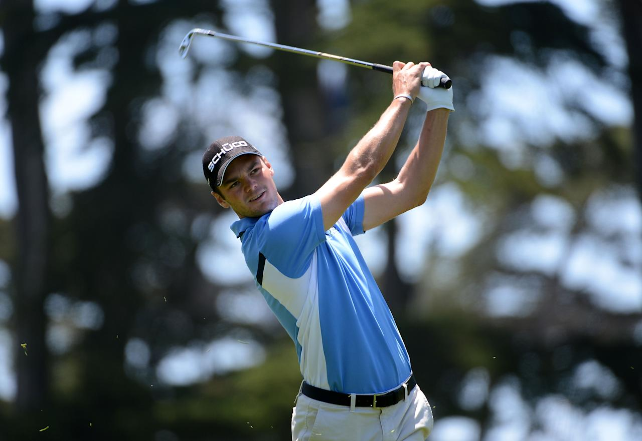 SAN FRANCISCO, CA - JUNE 16:  Martin Kaymer of Germany watches his approach shot on the first hole during the third round of the 112th U.S. Open at The Olympic Club on June 16, 2012 in San Francisco, California.  (Photo by Harry How/Getty Images)