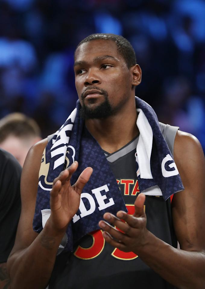 Kevin Durant of the Golden State Warriors (AFP Photo/RONALD MARTINEZ)