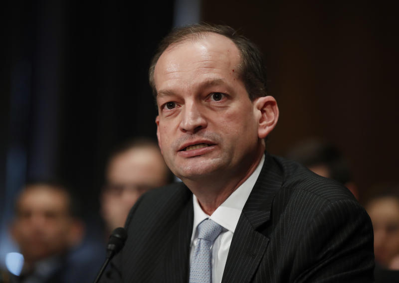 Senate poised to confirm Acosta as Trump's man at Labor