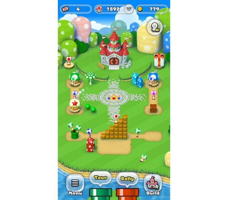 Super Mario Run Kingdom Builder.