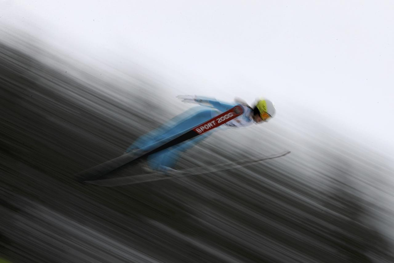 FIS Nordic Ski World Championships - Women's Ski Jumping - Trials - Lahti, Finland - 23/2/17 - Lucile Morat of France competes.  REUTERS/Kai Pfaffenbach TPX IMAGES OF THE DAY