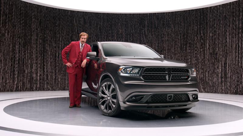 Fictional anchor Ron Burgundy pitches for Chrysler