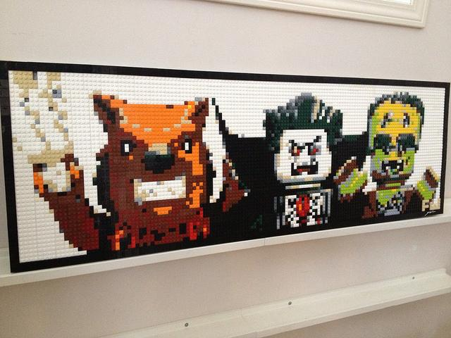 Monster Fighters Lego Mosaic by Dave Ware