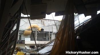Another view of the Jasper gym roof collapse
