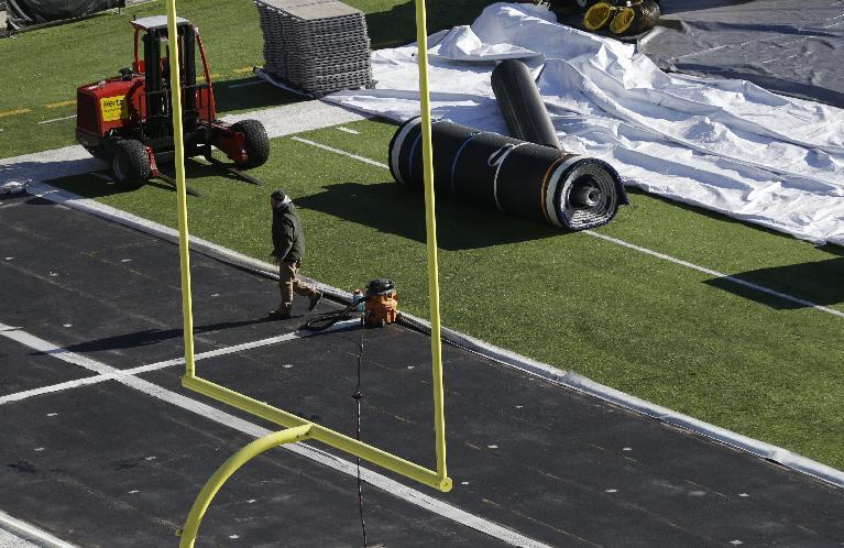 NFL's turf gurus gird for historic Super Bowl