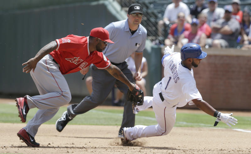 Trout 4 RBIs, Angels beat Texas for 5th win in row