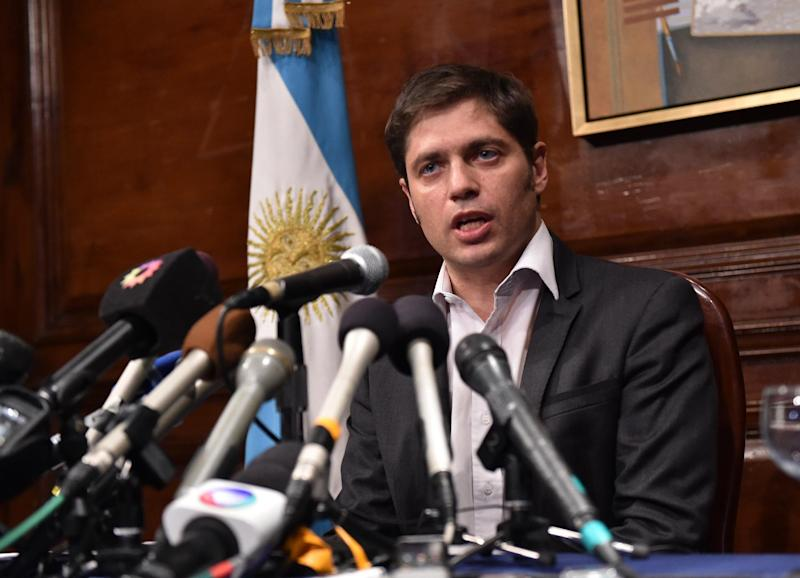 Argentina's Economy Minister Axel Kicillof speaks during a press conference at the Argentina Consulate in New York, on July 30, 2014