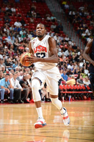 Kevin Durant won gold medals at the 2010 world championships and 2012 Olympics. (Getty Images)