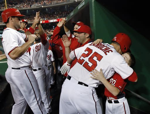 LaRoche homers twice as Nationals beat Orioles 9-3